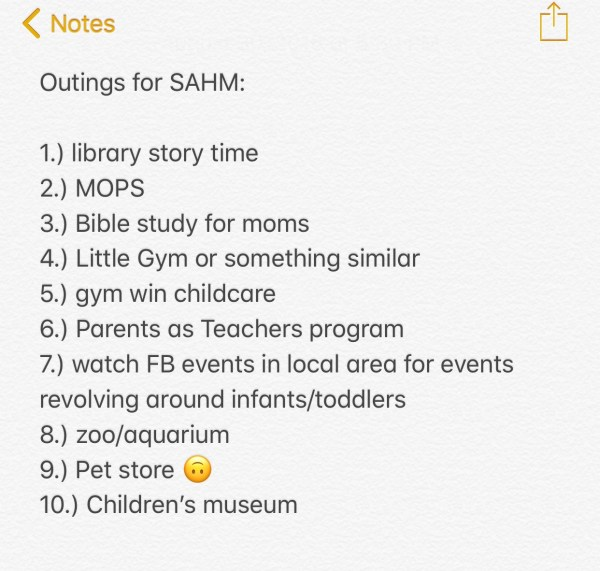List of activities for stay-at-home moms with infants and toddlers: 10 things to do to get you and your kids out of the house