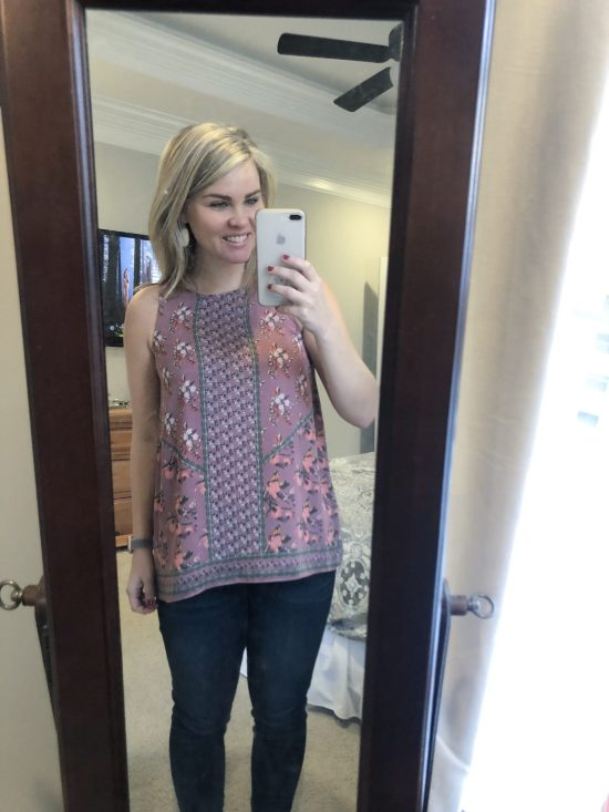 Stitch Fix Review | February 2019 | WhimsicalSeptember.com | MAX STUDIO Eina Scoop Neck Top