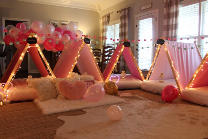 Sleepover Birthday Party: This post shares ideas for decorations, activities, games, food, cake, snacks, and more for throwing an event that is enjoyable for boys, girls, and adults alike! More within this post on WhimsicalSeptember.com