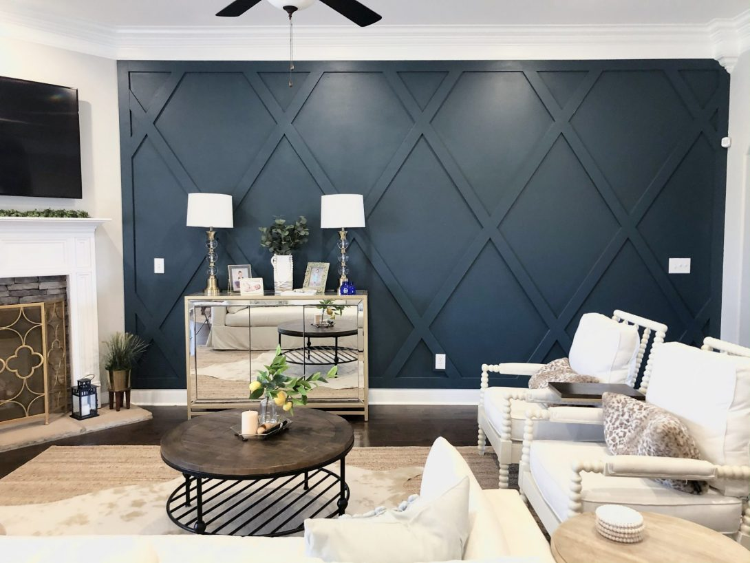 Creating A Diamond Accent Wall Whimsical September