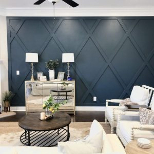 How To Create A Diamond Accent Wall