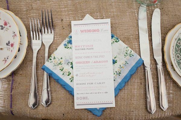 handkerchief wedding favour napkin