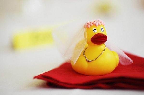 rubber duck wedding favour