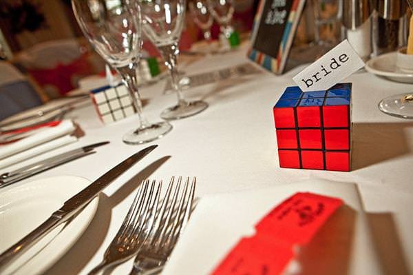 rubix cube wedding favour