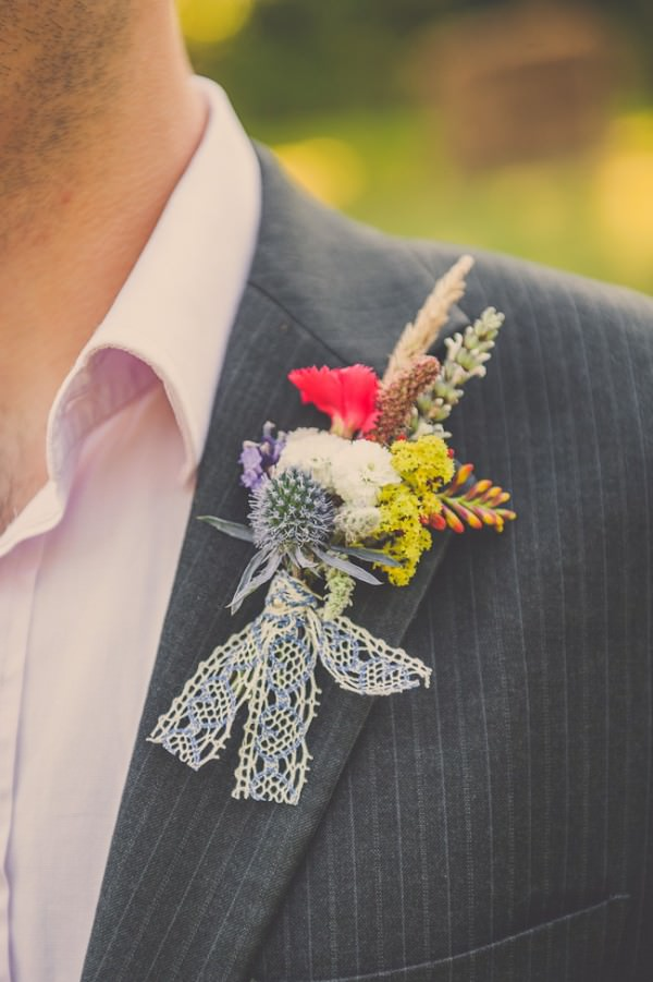 quirky groom buttohole eco friendly http://helinebekker.co.uk/