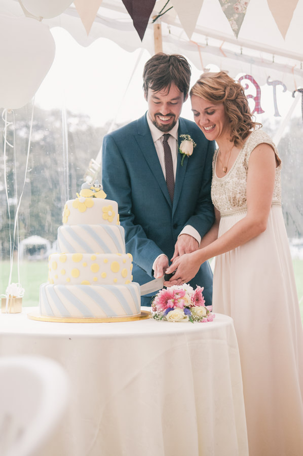 Blue Yellow Cake Sweet Village Fete Wedding http://www.tohave-toholdphotography.co.uk/