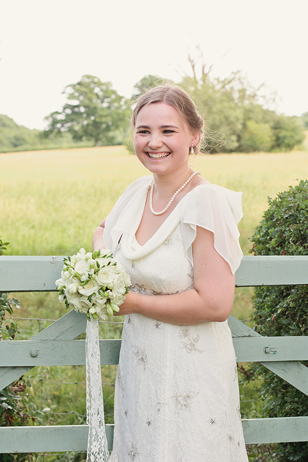Happy Country Back Garden Wedding Monsoon Bride Dress http://www.samanthawardphotography.co.uk/