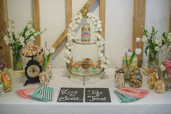 Coral & Green Rustic Wedding Sweets http://www.riamishaal.com/