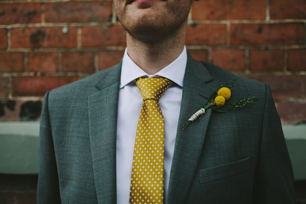 Quirky Chilled Party Wedding Polka Dot Groom Yellow Tie http://sdphotography.co.uk/