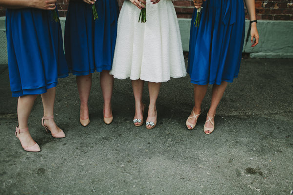 Quirky Chilled Party Wedding Blue Bridesmaids http://sdphotography.co.uk/