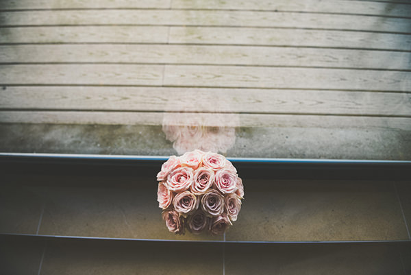 Pink Rose Bridal Bouquet Chic Sophisticated Northern Ireland Wedding http://paulagillespie.com/