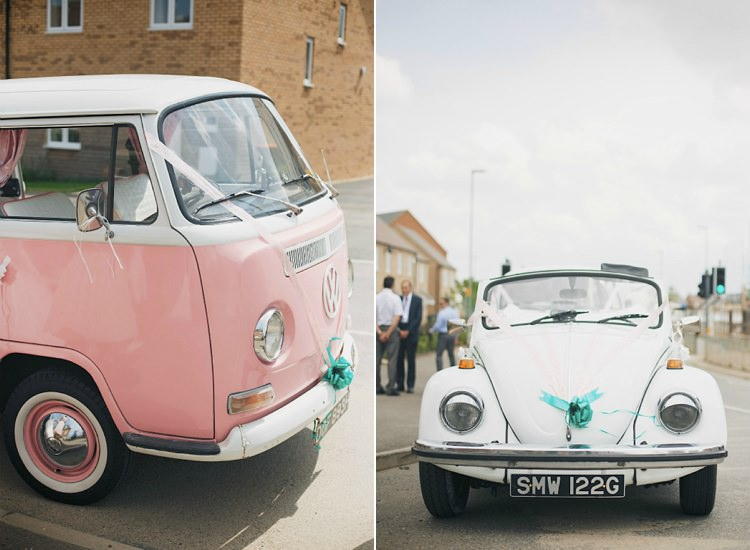 Retro Quirky Transport Cars VW Camper Pretty Pink Shabby Chic Barn Wedding http://verman.co.uk/