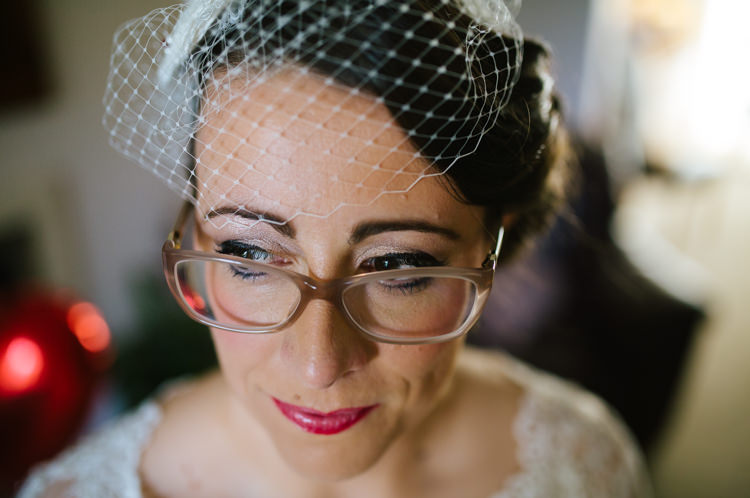 Glasses Birdcage Veil Bride Eclectic Vintage Music Party Wedding http://www.theretreat.co/