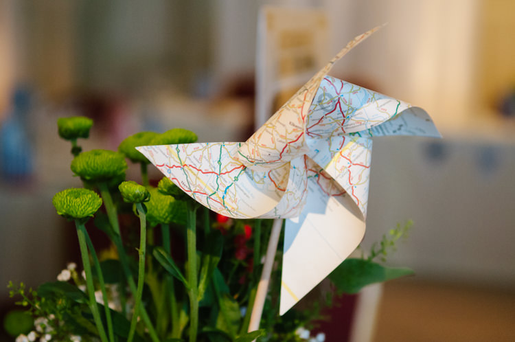 Pinwheels Travel Map Eclectic Vintage Music Party Wedding http://www.theretreat.co/