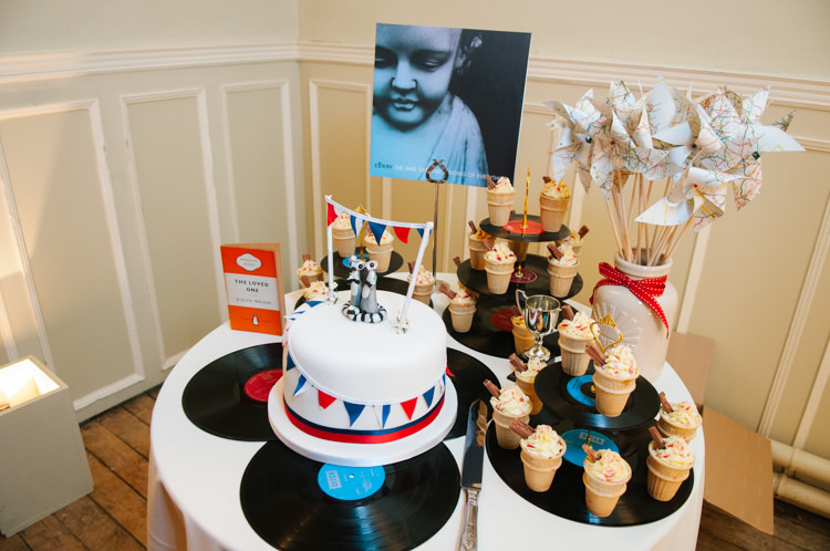 Cake Table Dessert Eclectic Vintage Music Party Wedding http://www.theretreat.co/