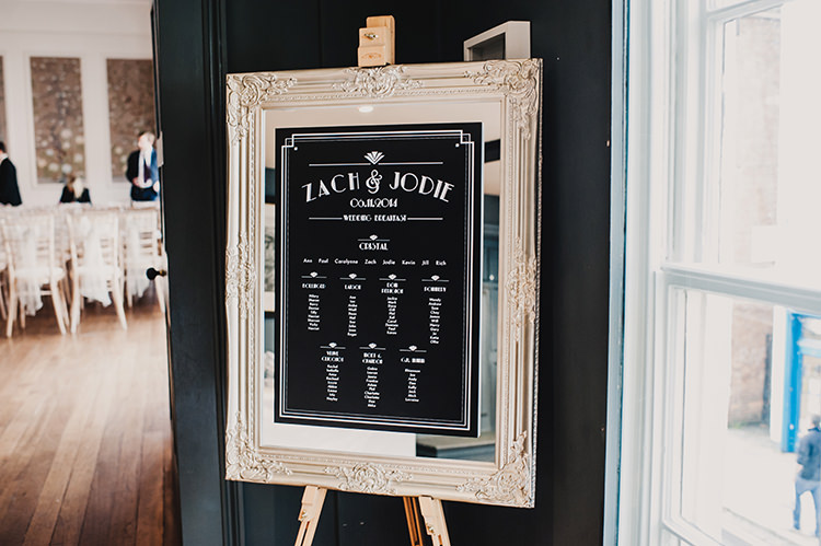 Seating Table Plan Chart Glamorous Gatsby 1920s Speakeasy Winter Wedding http://www.jmcsweeneyphotography.co.uk/