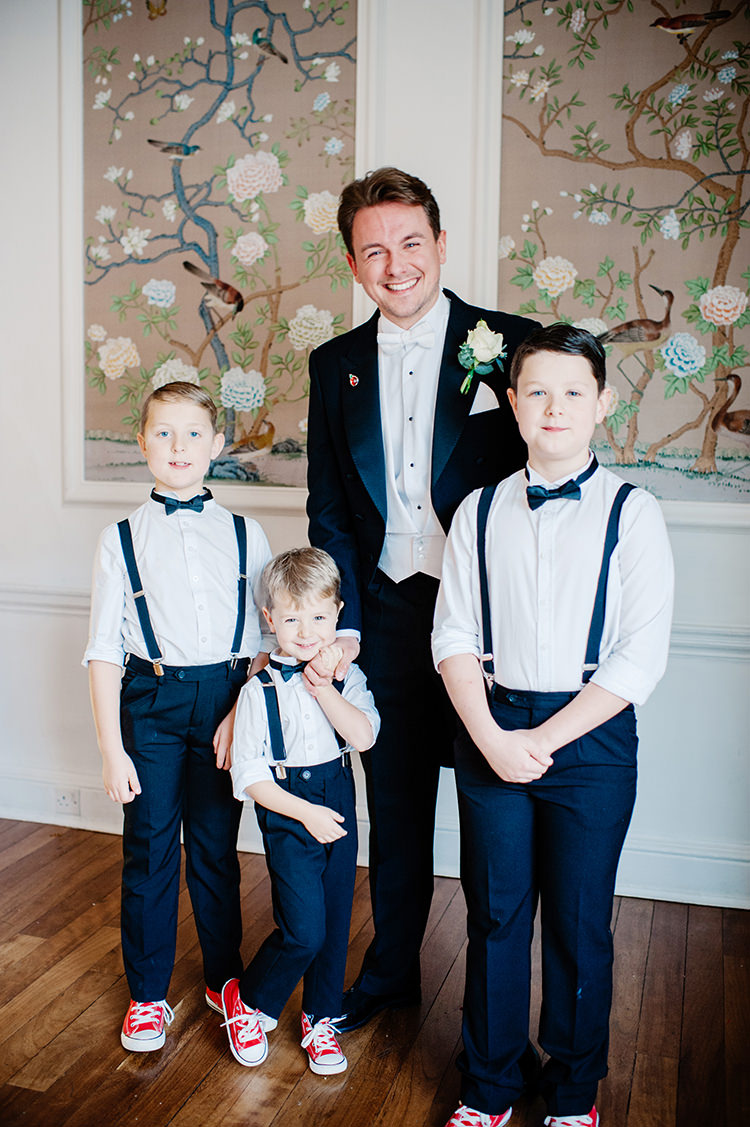 Pageboys Bow Ties Braces Converse Glamorous Gatsby 1920s Speakeasy Winter Wedding http://www.jmcsweeneyphotography.co.uk/
