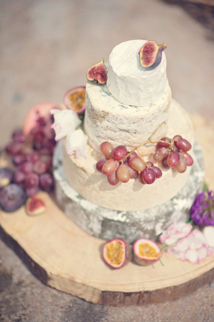 Cheese Tower Stack Cake Beautiful British Flower Peak District Moors Wedding Ideas http://www.sarahbrabbin.co.uk/