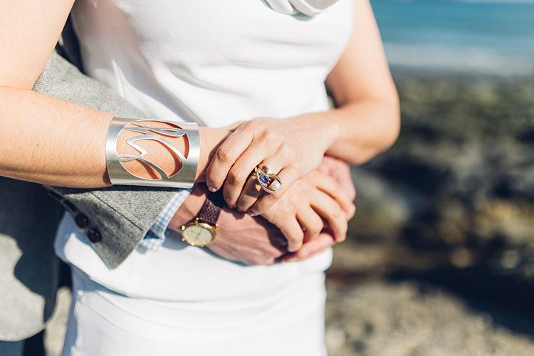 Jewelley Bride Bridal Unusual Rings Bracelet Cuff Chilled DIY Beach Front Cafe Cornwall Yellow Blue Wedding http://missgen.com/