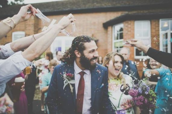 Bright Fun Multicoloured Wool Pom Pom Crafty Wedding http://meliamelia.com/