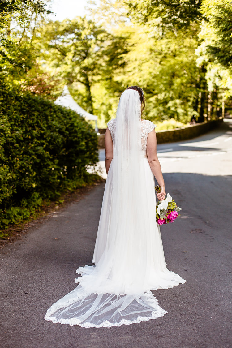 Long Veil Bride Bridal Quirky Colourful Pastel Country Fair Wedding http://www.cassandralane.co.uk/