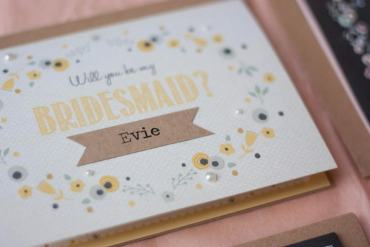 Will You Be My Bridesmaid Usher Best Man Groomsmen Flowergirl Page Boy Maid of Honour Wedding Cards Stationey Norma & Dorothy