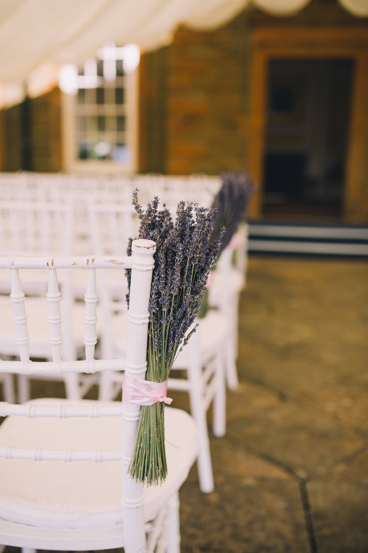 Lavender Ceremony Chairs Pew Ends Beautiful Relaxed Summer Blush Wedding http://jenmarino.com/