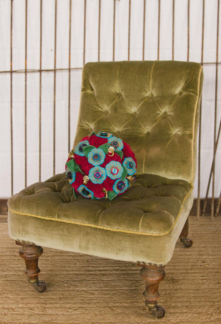 Fabric Bouquet Industrial Eco Bloom Wedding Ideas http://www.mywildrose.co.uk/