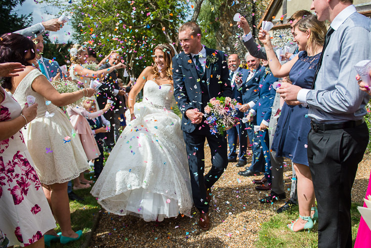 Confetti Throw Colourful DIY Village Fete Wedding http://jamesgristphotography.co.uk/blog/