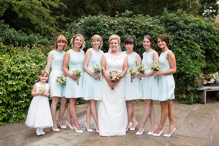 Pale Blue Pastel Short Bridesmaid Dresses Pretty Natural Floral Barn Wedding http://www.johastingsphotography.co.uk/