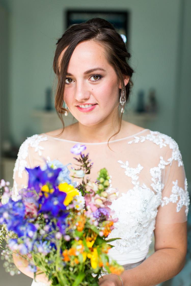 Wild Flowers Natural Bouquet Bride Bridal Colourful DIY Village Hall Wedding http://samanthagilrainephotography.com/