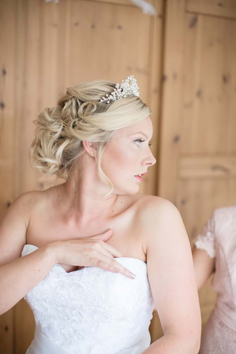 Bride Bridal Hair Style Up Do Family Farm Festival Wedding https://amylouphotography.co.uk/