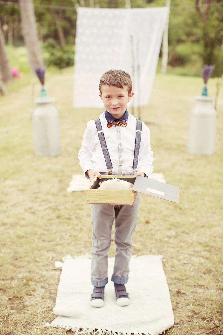Page Boy Braces Bow Tie Mismatched Fairground Woodland Wedding http://www.rebeccaweddingphotography.co.uk/