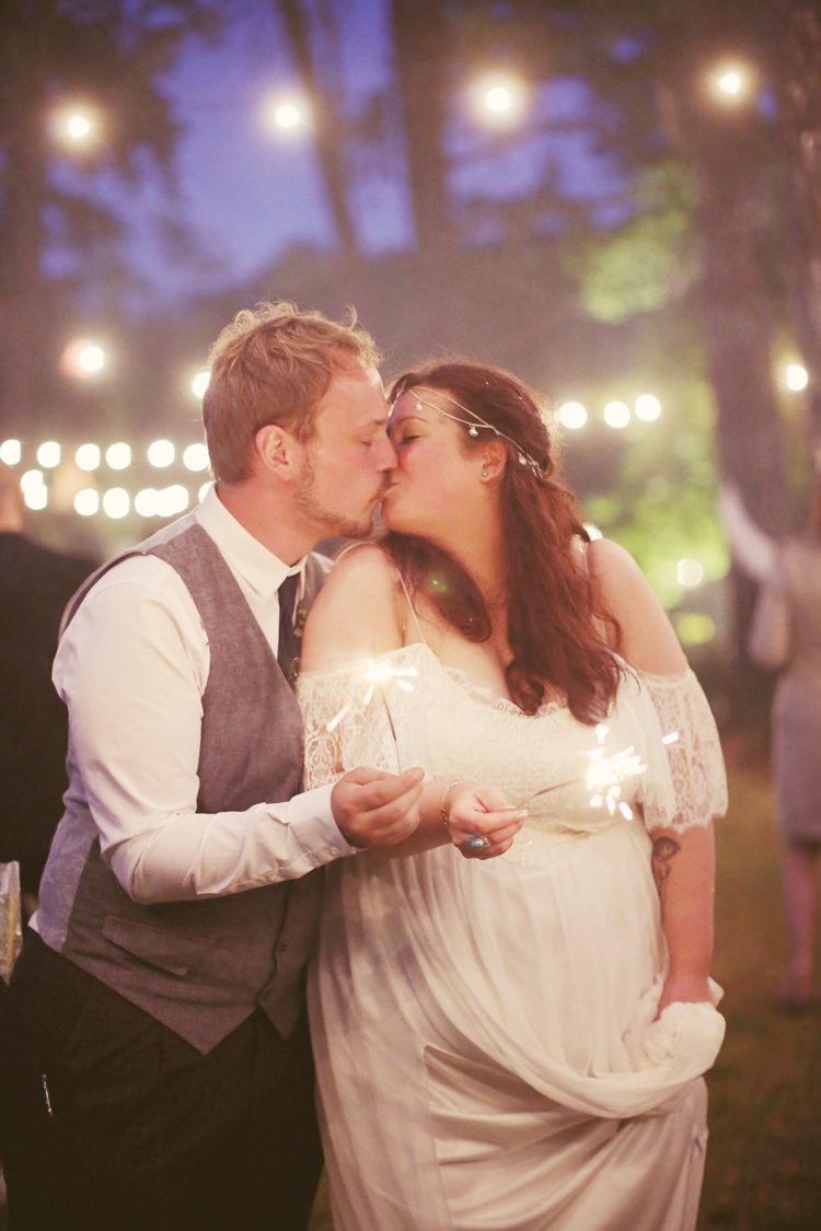 Sparklers Mismatched Fairground Woodland Wedding http://www.rebeccaweddingphotography.co.uk/