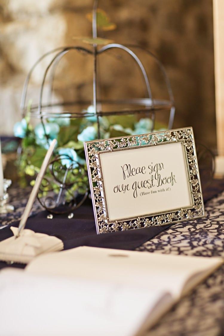 Reception Guest Book Sign Decor Elegant Classic Outdoor Wedding Washington http://www.courtneybowlden.com/