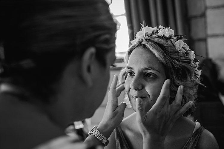 Bridal Preparations Makeup Flower Crown Beautiful Traditional Greek Destination Wedding in Cyprus http://www.jonnybarratt.com/