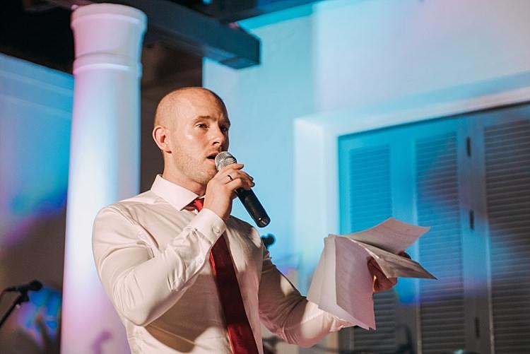 Groom Red Tie Speech Reception Beautiful Traditional Greek Destination Wedding in Cyprus http://www.jonnybarratt.com/