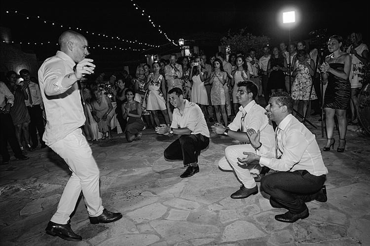Groom Guests Dance Reception Anassa Hotel Beautiful Traditional Greek Destination Wedding in Cyprus http://www.jonnybarratt.com/