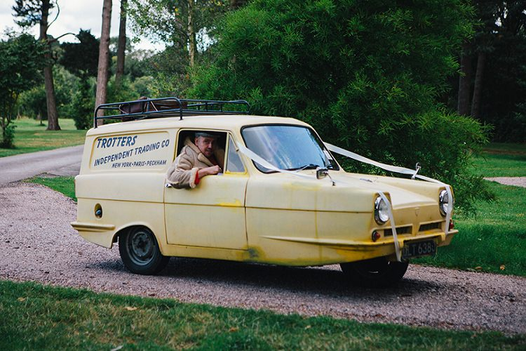 Trotters Wedding Car Only Fools and Horses Rustic Woodland Floral Wedding http://kellyjphotography.co.uk/