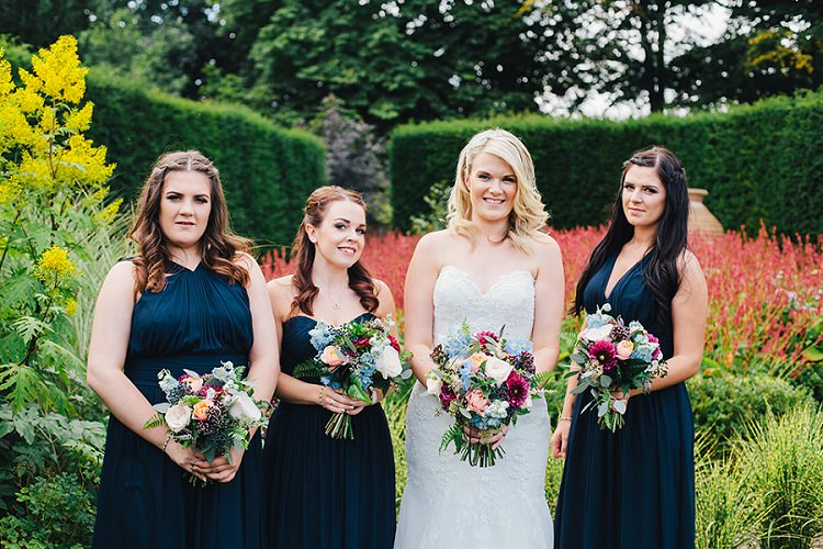 Long Dessy Bridesmaid Dresses Rustic Woodland Floral Wedding http://kellyjphotography.co.uk/