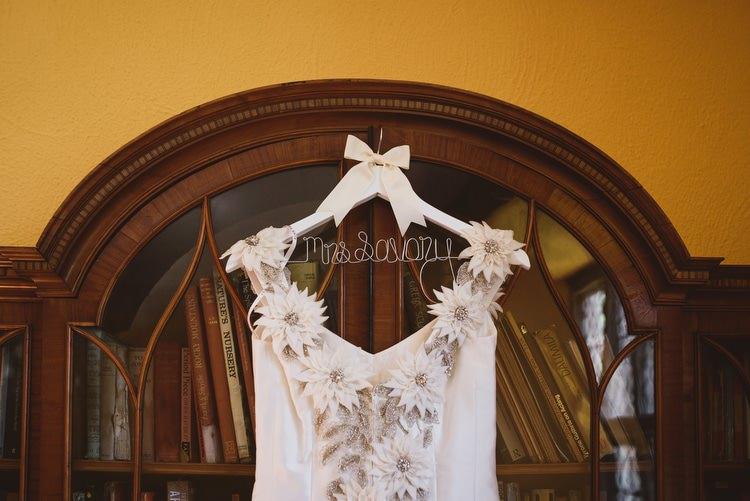 Custom Dress Bride Hanger Bridal Crafty Botanical Natural Wedding http://www.jacksonandcophotography.com/