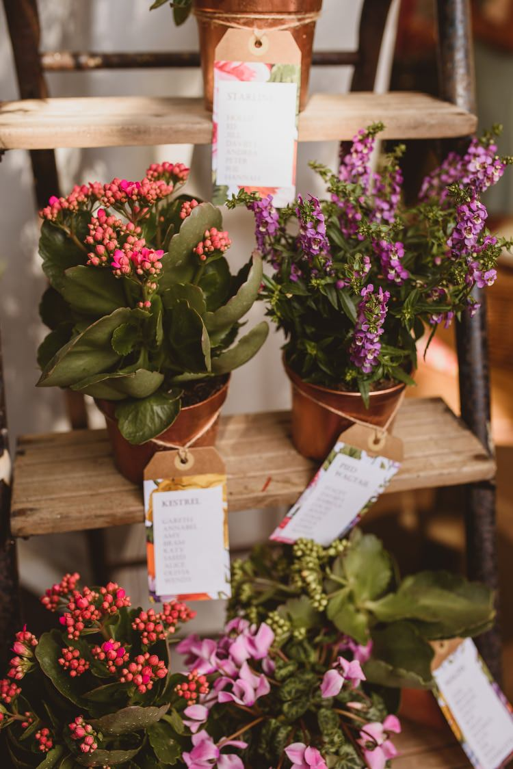 Copper Potted Plant Seating Table Plan Chart Ladder Crafty Botanical Natural Wedding http://www.jacksonandcophotography.com/