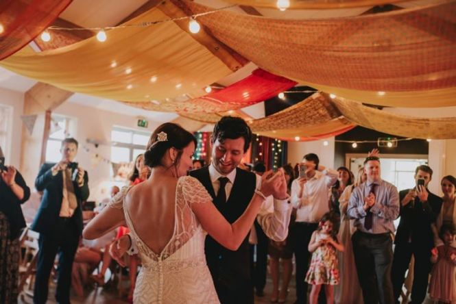 Ds Swags Festoon Lights Colourful Whimsical Bright Village Hall Wedding Http Www