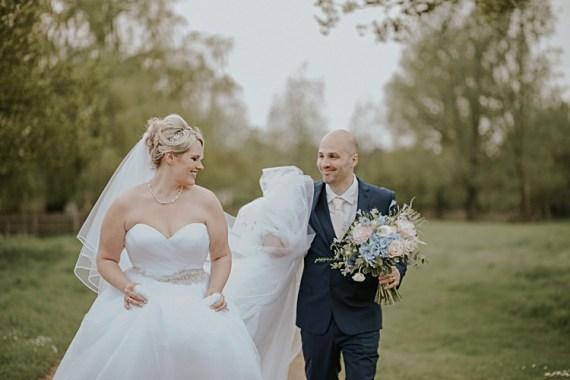 Pretty Pale Blue Gold Fairy Lit Barn Wedding http://lolarosephotography.com/