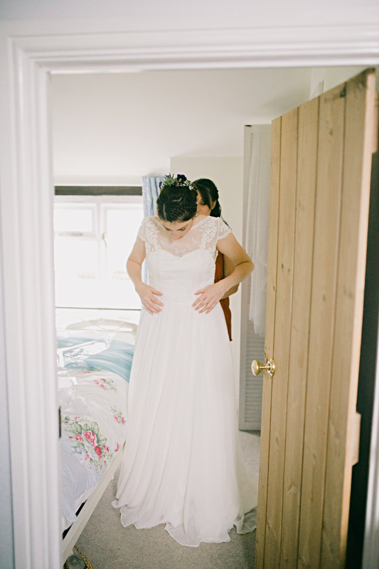Lilly Mae by Charlotte Balbier Dress Bride Bridal Gown Beautiful Bicycle Country Marquee Wedding http://www.emmabphotography.com/