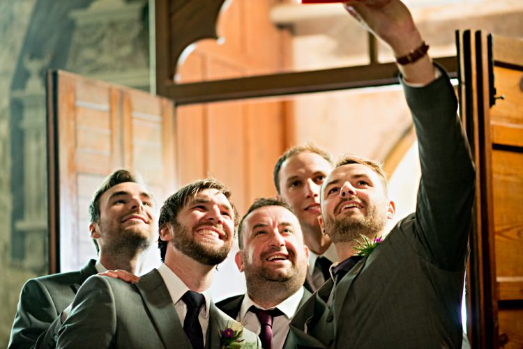 Groomsmen Selfie Beautiful Bicycle Country Marquee Wedding http://www.emmabphotography.com/