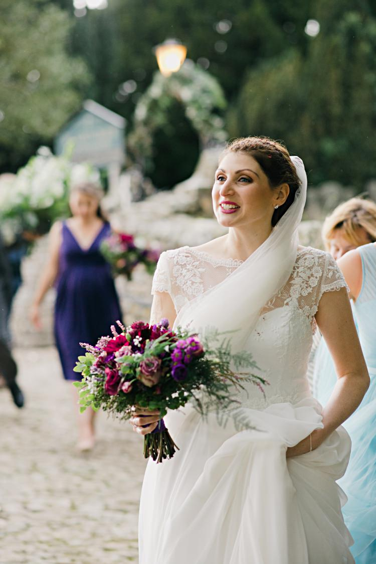 Lilly Mae by Charlotte Balbier Dress Gown Bride Bridal Flowers Veil Beautiful Bicycle Country Marquee Wedding http://www.emmabphotography.com/