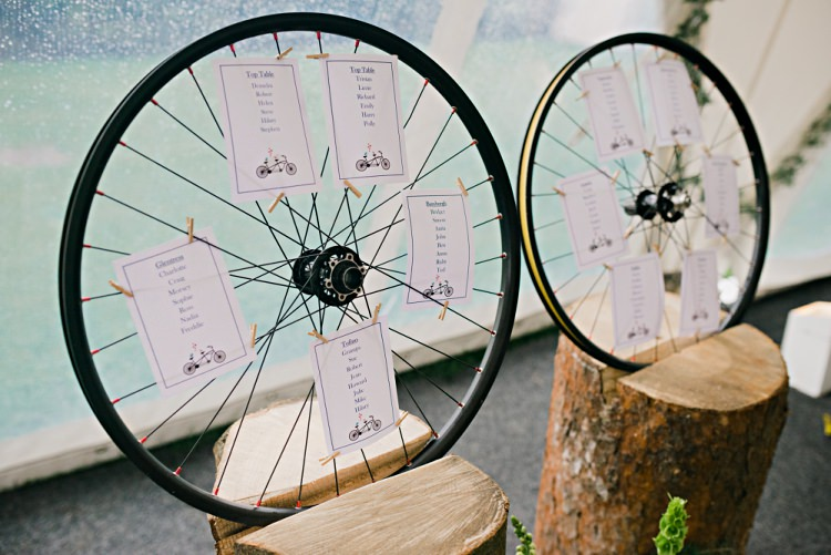 Wheel Seating Table Plan Chart Beautiful Bicycle Country Marquee Wedding http://www.emmabphotography.com/