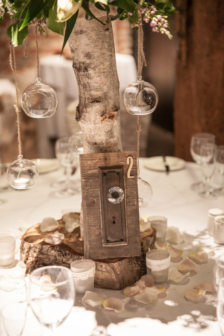 Door Knocker Table Number Cosy Winter Barn Wedding http://kerryannduffy.com/