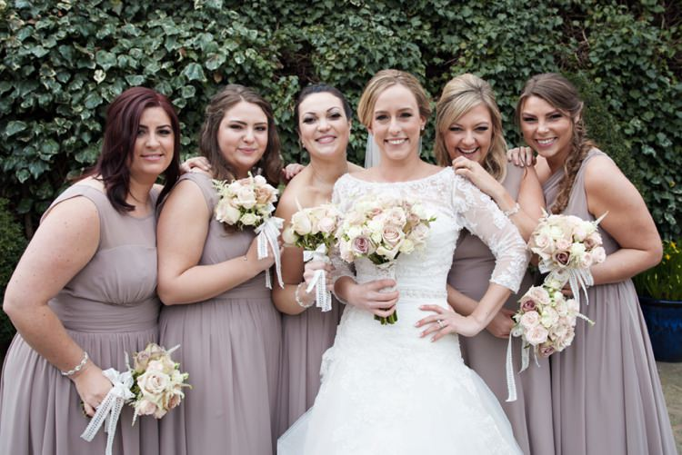 Dusky Pink Bridesmaid Dresses Cosy Winter Barn Wedding http://kerryannduffy.com/